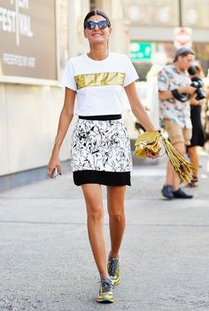 Gio doing it with kicks. NYC. #GiovannaBattaglia