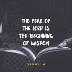 """Wisdom begins with fear and respect for the Lord. Knowledge of the Holy One leads to understanding."" ‭‭Proverbs‬ ‭9:10‬ ‭ERV‬‬ http://bible.com/406/pro.9.10.erv"