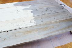 Aging Wood with Steel Wool, Vinegar and Tea