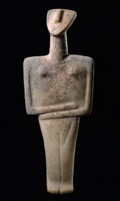Female figurine of the post-canonical type  marble  Early Cycladic II period - Syros phase  2800-2300 BC