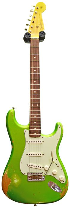 Fender Custom Shop Heavy Relic 62 Strat Lime Green Metallic #R77081 Main Product Image