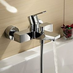 Tub Tap Centerset / Wall Mount with Chrome Single Handle Two Holes