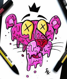 Easy Graffiti Drawings, Graffiti Doodles, Trippy Drawings, Graffiti Cartoons, Pencil Art Drawings, Cool Art Drawings, Art Drawings Sketches, Cute Doodle Art, Doodle Art Designs