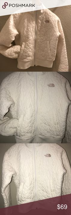 The North Face Puffy jacket s/p Excellent beautiful puffy jacket that has gentle used.Color is like cream/white? The North Face Jackets & Coats Puffers