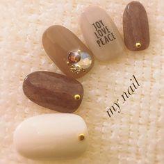 インスタ→my_nail_ranchan フォローしていただけたら嬉しいです(*´꒳`*) 秋冬ニットベール #my_nail #ネイルブック