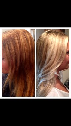 Before and after hair by Heidi Kenney