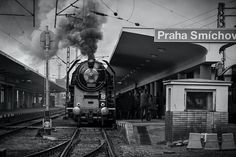 Praha Smíchov by Mother Family, Old Pictures, Homeland, Vintage Images, Czech Republic, Transportation, Future Tech, Explore, Black And White