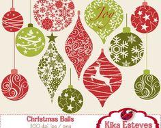 Clipart Bolas Natal