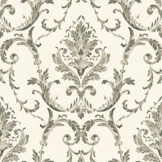 York Wallcoverings Saint Augustine Neoclassical Damask Wallpaper for sale online Plum Wallpaper, Wallpaper Stores, Embossed Wallpaper, Wallpaper Online, Wallpaper Roll, Wallpaper Ideas, Discount Wallpaper, Scrap, Traditional Wallpaper