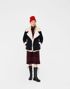 Veste denim motard sherpa - Manteaux et blousons - Vêtements - Femme - PULL&BEAR France