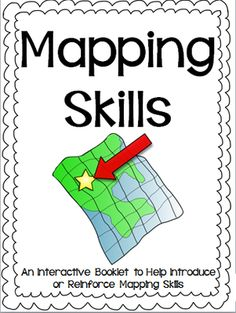 Mapping Skills Interactive Reader, Student Booklet and Assessment AMERICAN Version from Travel Teach and Love on TeachersNotebook.com -  (48 pages)