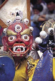 Mask Dance at the Hemis Festival, Ladakh, Kashmir