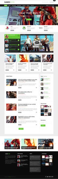 GamesZone - Gaming WordPress Theme #web #design