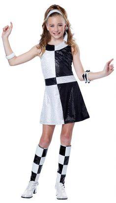 Tween Black/White 60's Mod Costume - Candy Apple Costumes - 60's Costumes