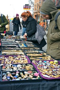 Hell's Kitchen Flea Market, New York City. Look at the vintage jewelry. This flea market has everything you could ever want. Biddy Craft