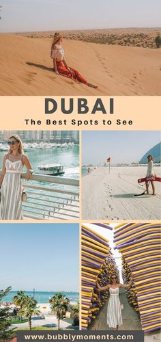 3 Days in Dubai! Dubai is a modern world city like no other. Discover Dubai Tourist Attractions, Dubai Tourist Spots, Where to Go in Dubai. In Dubai, Dubai Beach, Visit Dubai, Dubai City, Dubai Vacation, Dubai Travel, Asia Travel, Travel Tips, Dubai Trip