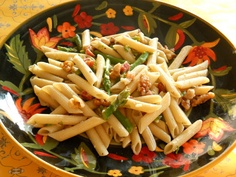 Pasta with asparagus, pancetta and walnuts  Lake Lure Cottage Kitchen