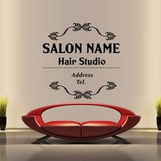 Wall Decal Decor Decals Art Name Hair Salon Custom Beauty Hairstyle Hairdresser Signboard Sign Inscription Girl (M1419)