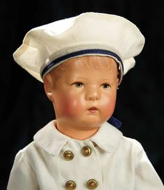 Soirée: A Marquis Cataloged Auction of Antique Dolls and Automata - May 14, 2016: Lot 224. German Character Doll, Type X, by Kathe Kruse