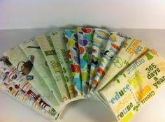 Green Line Hand Towels