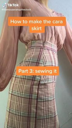 Fashion Sewing, Diy Fashion, Fashion Outfits, Skirt Patterns Sewing, Clothing Patterns, Sewing Clothes, Diy Clothes, Sewing Tutorials, Sewing Projects