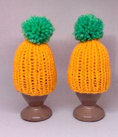 Beanie, Hats, Decor, Fashion, Yellow, Handarbeit, Breien, Nice Asses, Easter