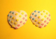 Heart candy dot pasties