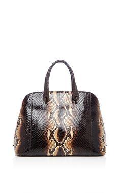 Brown Python Top Handle Bag by Nancy Gonzalez for Preorder on Moda Operandi  Types Of Handbags bea2e8bc1b9f7
