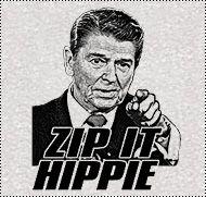 Zip it Hippie T-Shirt