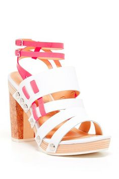 Hurricane Heel Sandal by Nanette Lepore on @HauteLook #colorful #shoes #wedges #summer