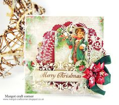 Scrap & Craft Christmas challenge using products from http://scrapandcraft.co.uk/ #Christmas #poinsettia #ribbon #tree #baubles
