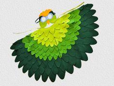 Costume de perroquet vert perruche Halloween par BHBKidstyle