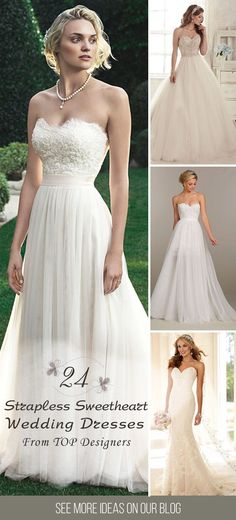 24 Strapless Sweetheart Neckline Wedding Dresses From TOP Designers ❤️We offer you look at the classic, sophisticated look of the strapless sweetheart neckline wedding dresses. They are glamour, femininity and always in fashion. See more: http://www.weddingforward.com/strapless-sweetheart-neckline-wedding-dresses/ #weddings #dresses
