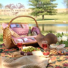 In the Victorian Age, picnics were grand affairs and movable feasts complete with tables, crystal, linens, and formal wear. Picnics might have evolved a bit since then, but there's no reason they shouldn't still be elegant! Explore our summertime collection today! Victorian Trading Company, Reproduction Furniture, Romantic Outfit, Picnic In The Park, Summer Picnic, Two Piece Dress, Country Life, Summer Collection, Tablescapes
