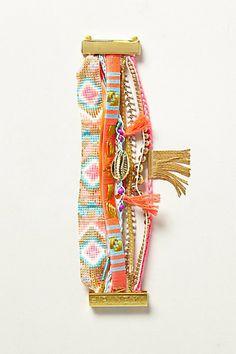 HIPANEMA Le bracelet français fait avec des bracelets brésiliens!  Aiptasia Layer Bracelet #anthropologie