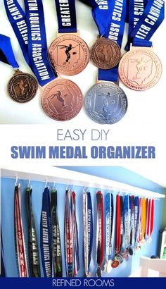 Check out this easy and affordable DIY IKEA hack for organizing swimming medals. If you're drowning in swim medal clutter, this DIY organizing product is for you! Home Organization Hacks, Organizing Your Home, Organizing Tips, Cleaning Tips, Small Space Interior Design, Best Ikea, Ikea Home, Decoration, As You Like