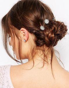 Imagen 1 de Pack de 6 pasadores para el cabello con cristales de New Look