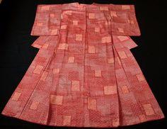 Japanese Vintage Kimono, SILK, Red&White, Gorgeous!! P012359    eBay