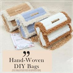 Diy Crafts Hacks, Diy Crafts For Gifts, Diy Home Crafts, Diy Crochet Bag, Crochet Bag Tutorials, Diy Handbag, Diy Purse, Diy Couture, Crochet Handbags