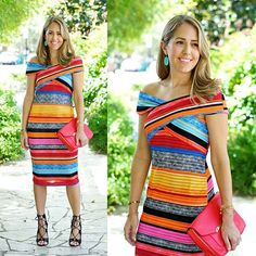 Another look from todays post with jcpenney I loved this dress at 2 other stores this summer but JCP has it for less lookforless jcp jcpenney budgetfashion stripes colorfuldress ootd jseverydayfashion