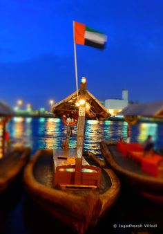 Water taxi..  It is a nice way to see Dubai city sky line which you will miss during your Dhow Cruise which is another way to travel in Dubai Creek.