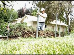 This is a video of me setting posts for a 6' cedar fence. This client chose to upgrade to Postmaster galvanized steel fence posts. The old fence has been rem...