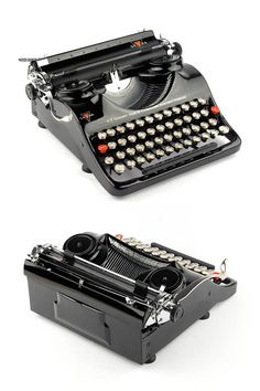 Typewriter Groma Modell N working 30s black portable