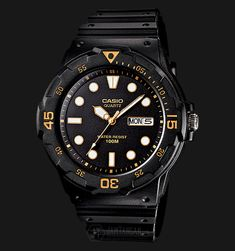 ad6806ee6ac8 Casio MRW-200H-1EVDF Water Resistant 100M Resin Band
