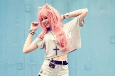 DIY your Kitten Pastel Goth Look... see an amazing selection of Cute Kitten, pastel goth, Grunge styles that you can combine, mix and match and be creative with your DIY fashion