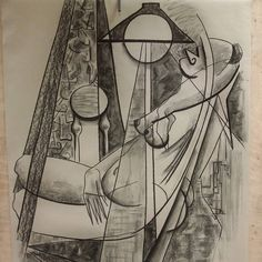 From the last of my evening drawing lessons... #drawing #kresba #cubismo #womeninart #cubisticladies #cubism #cubism #vsvu #bratislava #kubistis #umenie #umenienaslovensku #lujmari
