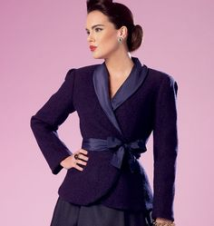 Lilacs & Lace: Imitative of a style, fashion, or design from the recent past. Butterick 6105