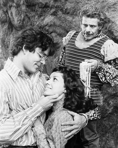 "Raul Julia, Carol Pinza and Jerry Stiller in the Tony Award winning ""Two Gentleman of Verona""."