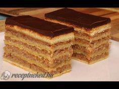 Mennyei zserbó - YouTube Hungarian Desserts, Hungarian Cake, Hungarian Recipes, Zserbo Recipe, Garlic Bread, Cake Cookies, Tiramisu, Deserts, Food And Drink