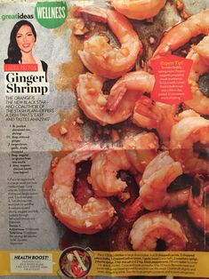 Ginger shrimp recipe - Laura Prepon, the Stash Plan (People magazine)